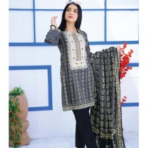 Digital Printed Embroidered PIMA Lawn