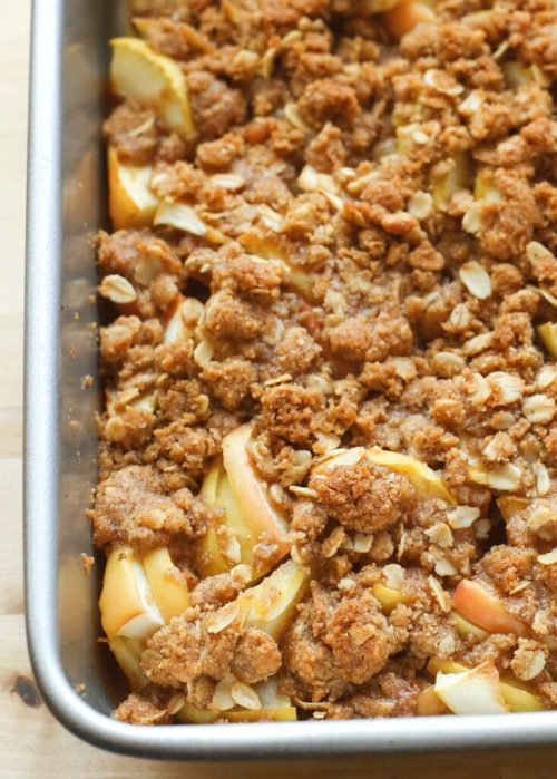 Old Fashioned Apple Crisp - get the recipe at barefeetinthekitchen.com
