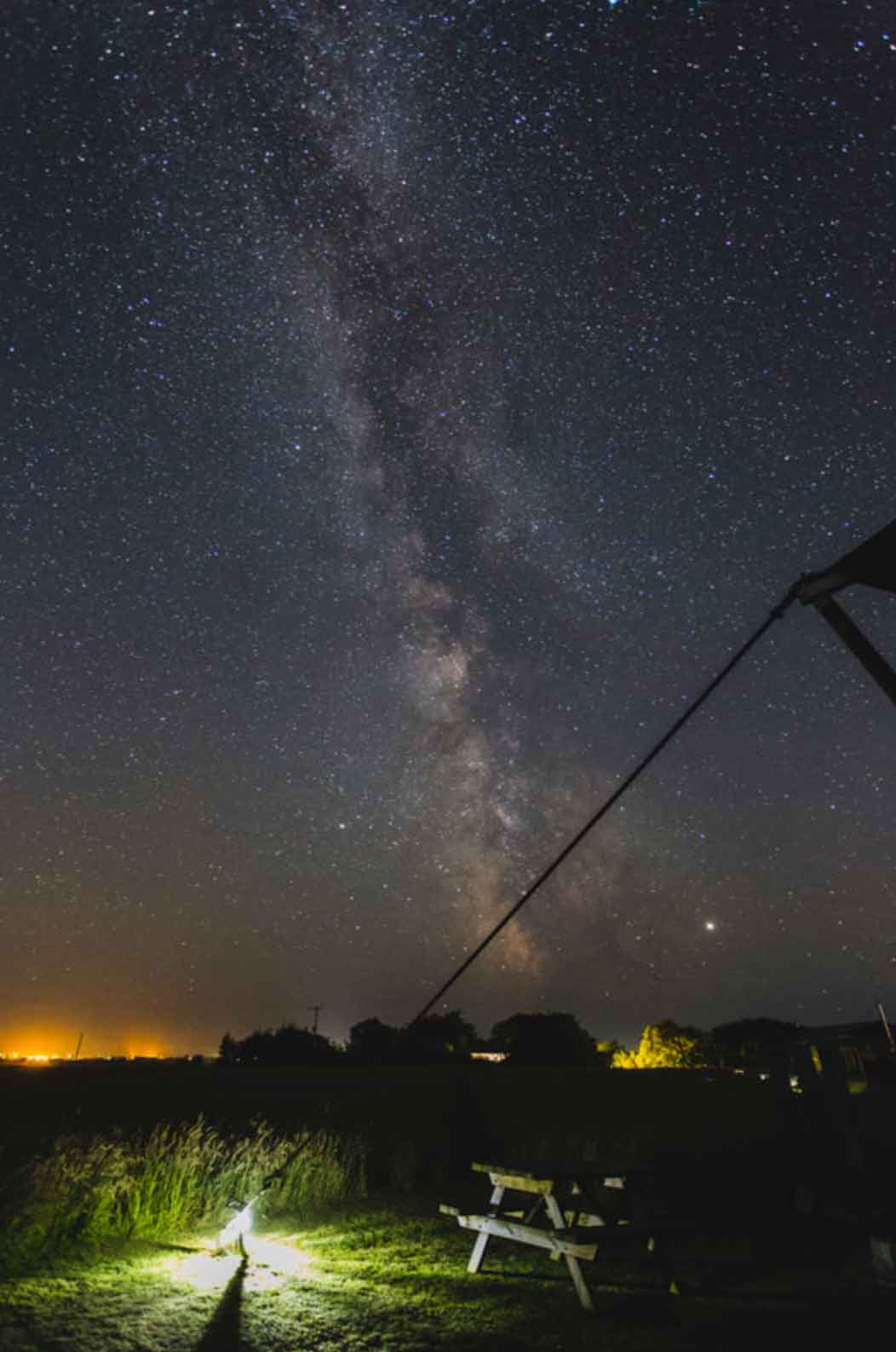 the Milky Way as seen from woody the safari tent Cornwall