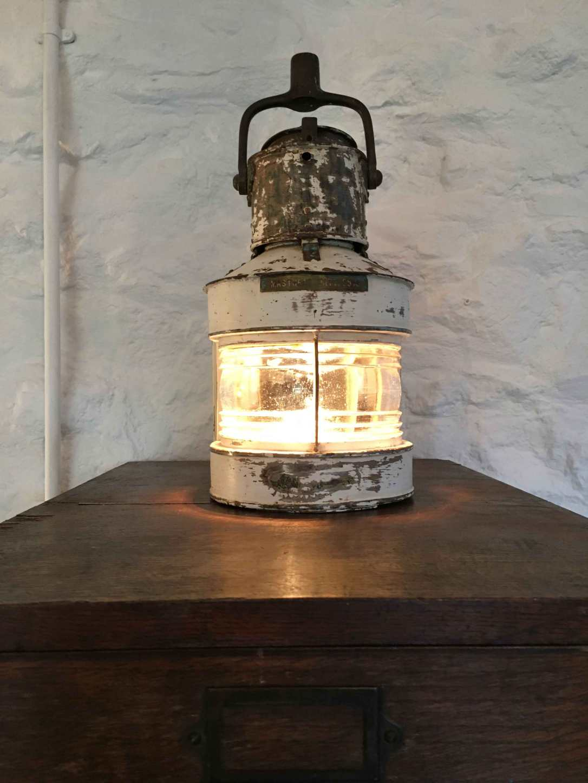 a vintage ships lantern light