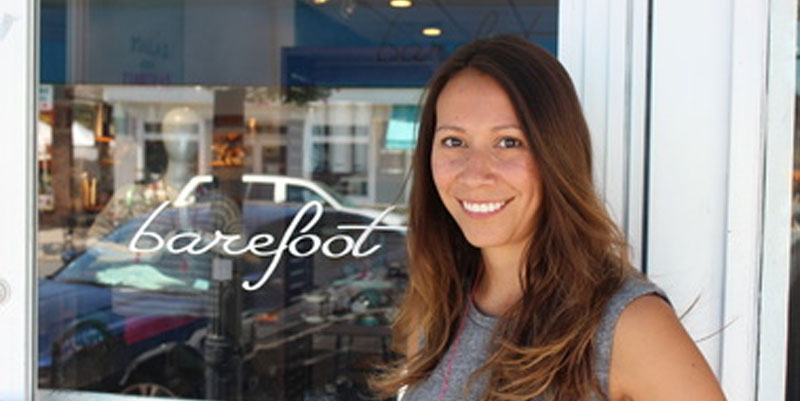Ali Maccione owner of Barefoot an Athleisure Boutique in Spring Lake NJ