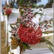 Native flowers for wedding aisle decor.