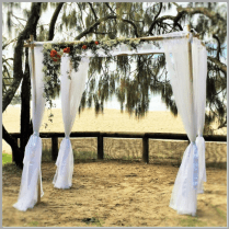 Wedding arbour with fresh flowers - Hidden Grove Noosa