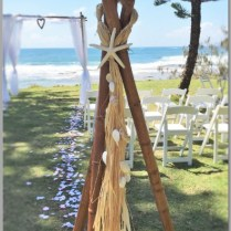 Wedding-Bamboo teepee - Shelly Beach
