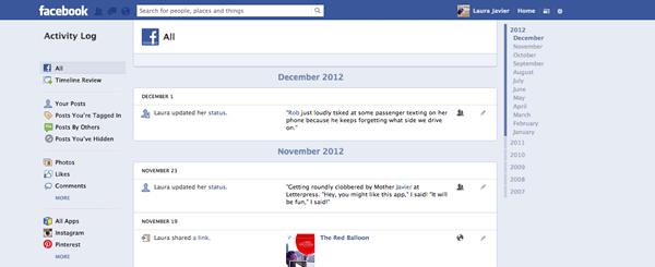 FB-Updated Activity Log