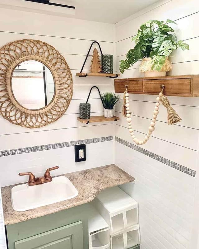 rv bathroom ideas bohoe