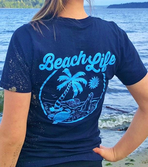 Beach Life Unisex Pocket Tee