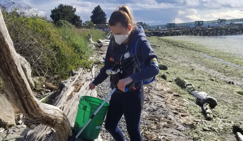 Barefoot Eco Outfitters Edmonds Beach Cleanup June 2020