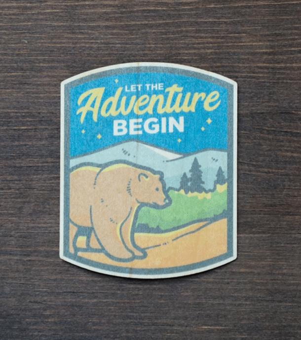 Adventure Bear Sticker Product Photo