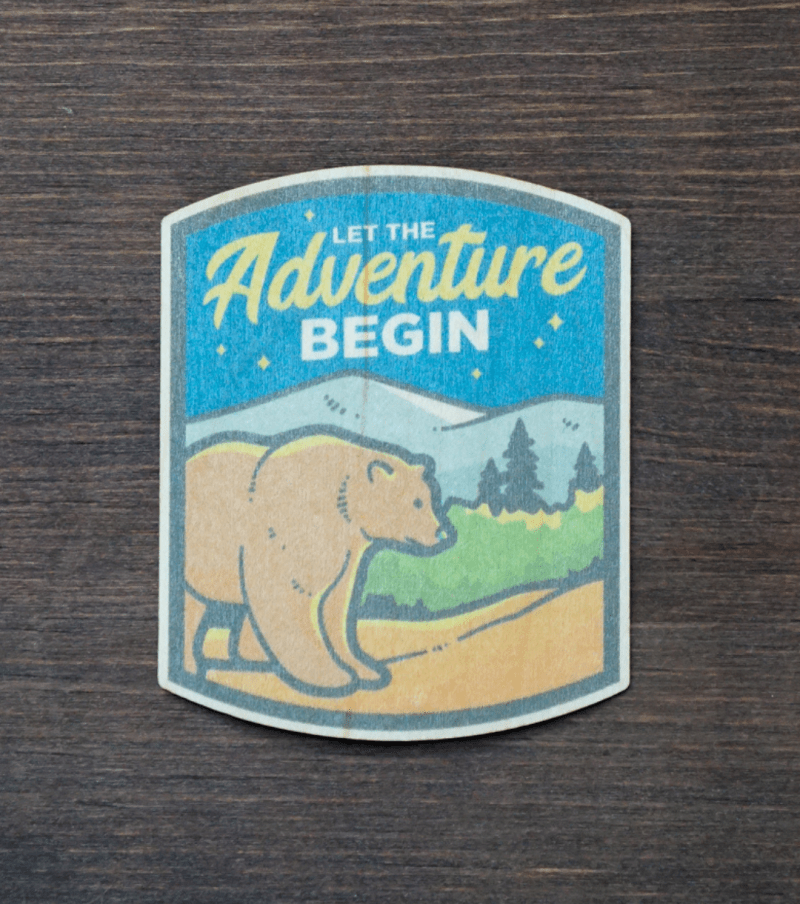 Adventure Bear Sticker Product Photo