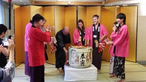 Breaking Sake with Governor of Nara
