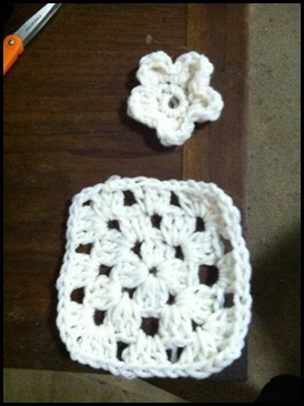 granny square and flower