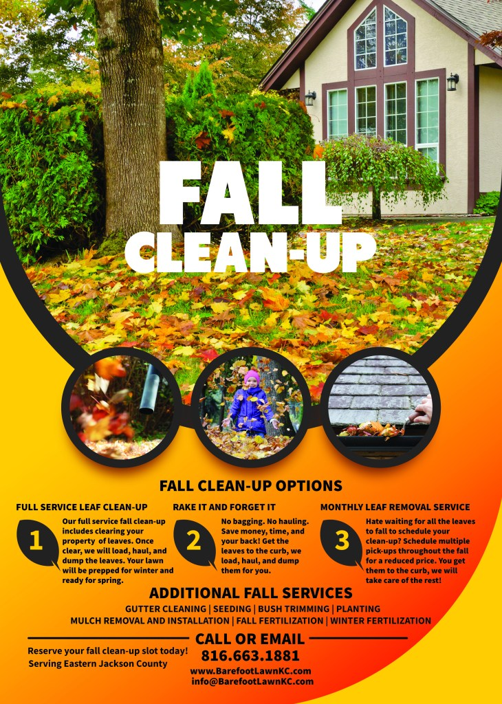 Fall Cleanup Service Barefoot Lawn Care Kansas City