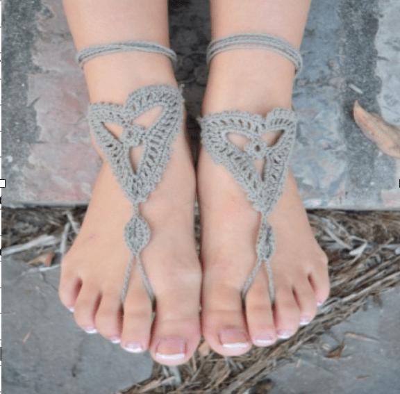 crochet sandal