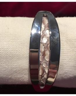 Skinnarmbånd med sølv