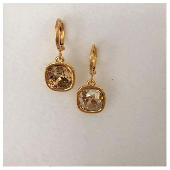 Ørepynt gull med Swarovskikrystaller