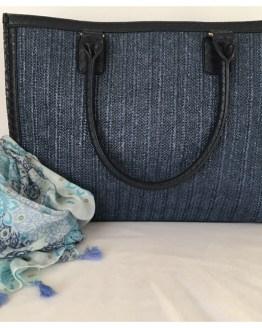 Strandveske blå