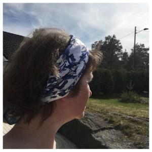 Skjerf som hårbånd