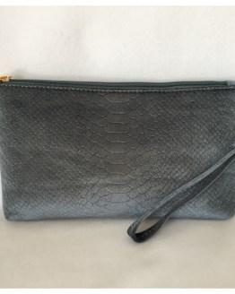 Clutch - blågrå velur