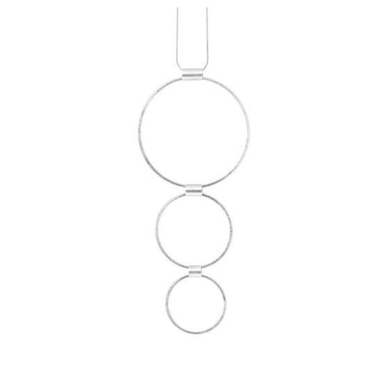 TAMARA 3 CIRCLES NECKLACE SILVER PLATING