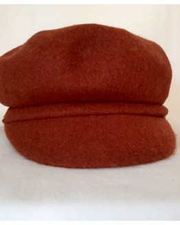Hatt, brent orange