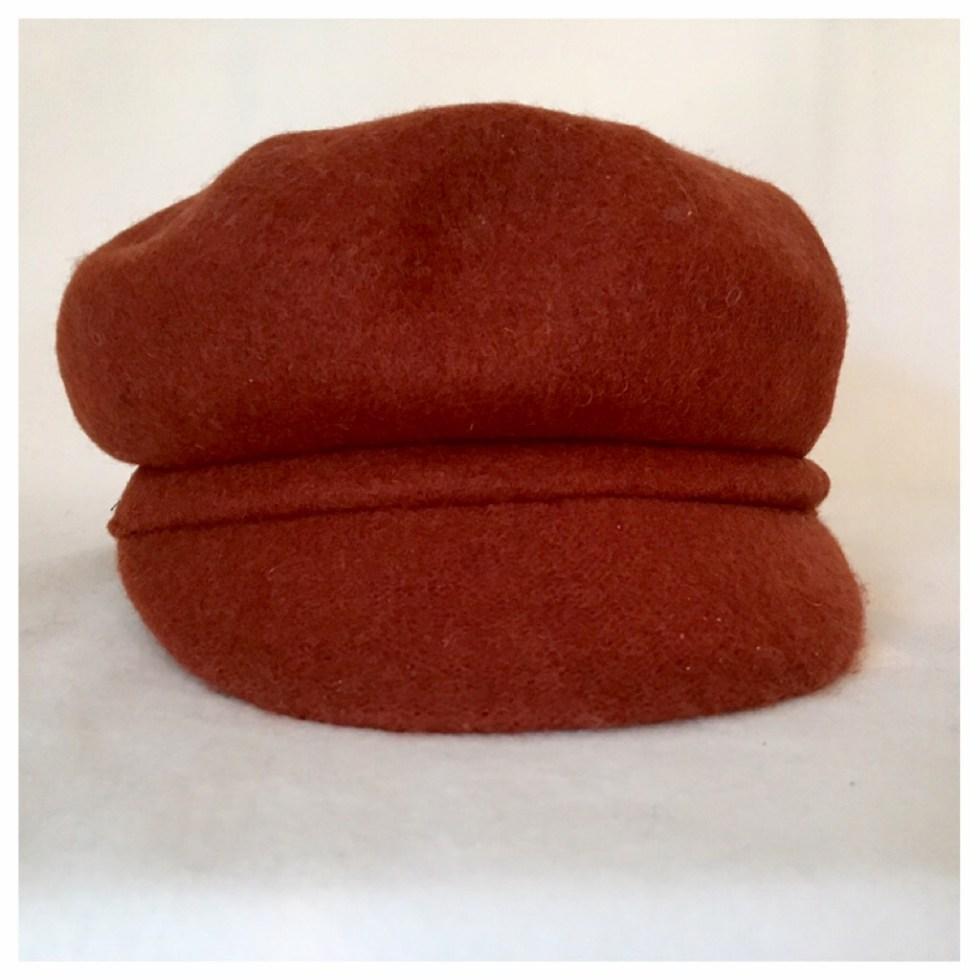 Hatt, brent orange