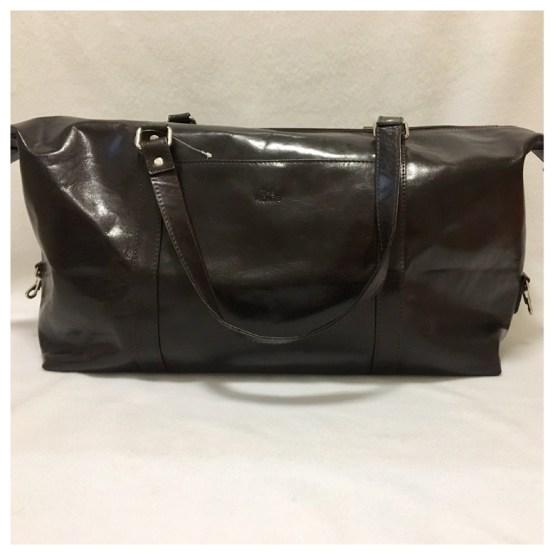 Weekendbag mørk brun