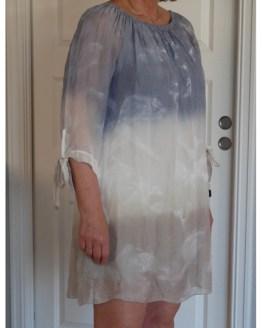 Tunika i silke - dueblå