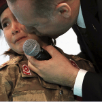 "President of Turkey molests six-year-old girl dressed as a soldier while telling her she will be ""honored if she dies as a martyr for Islam"""