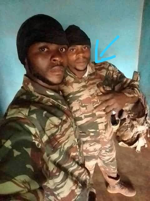 He wears Military uniform when he goes out to show amba hideouts