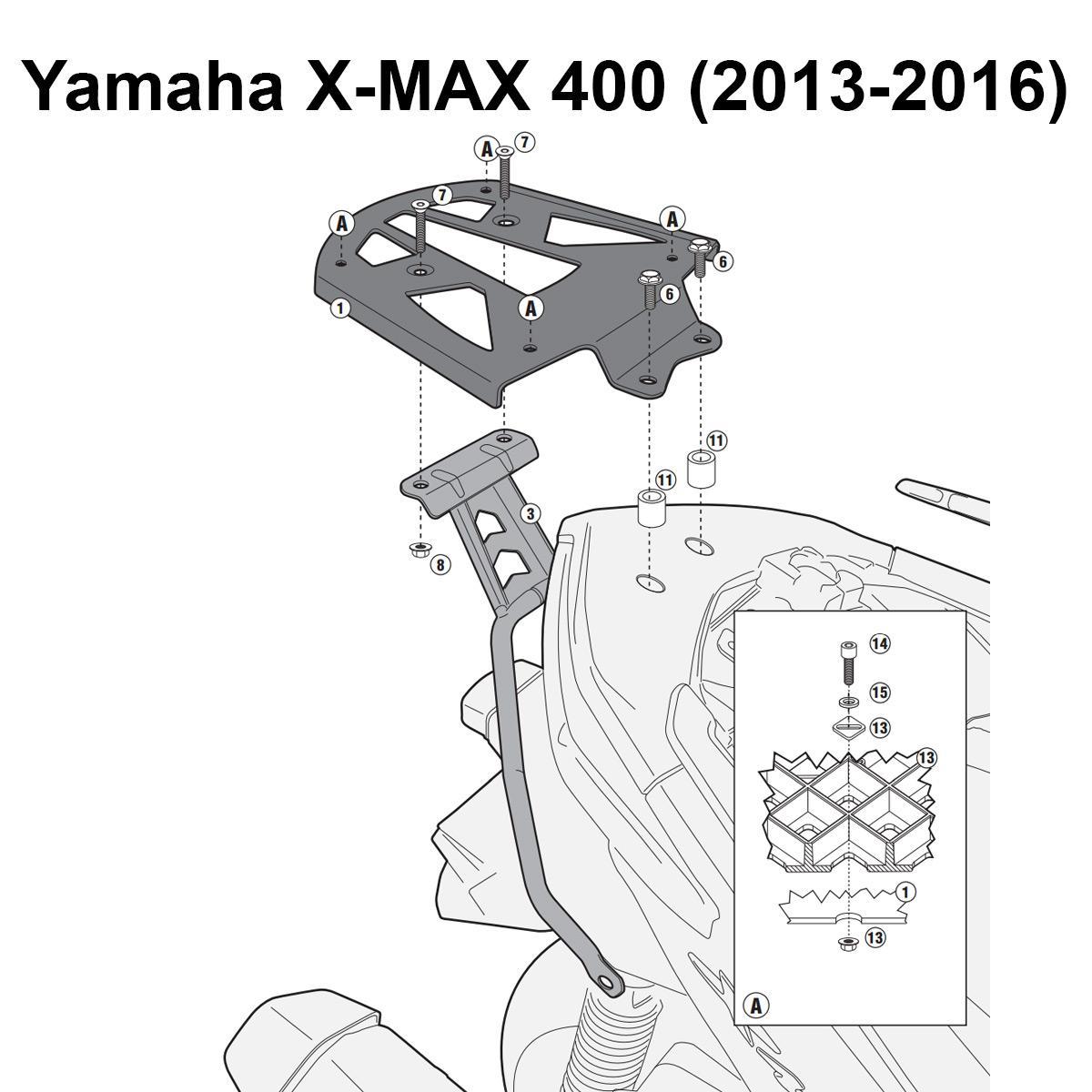 Kappa Kr M Specific Rear Top Box Rack Kit