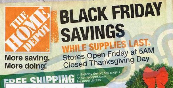 Home Depot Black Friday Deals 2013: Tools, Appliances