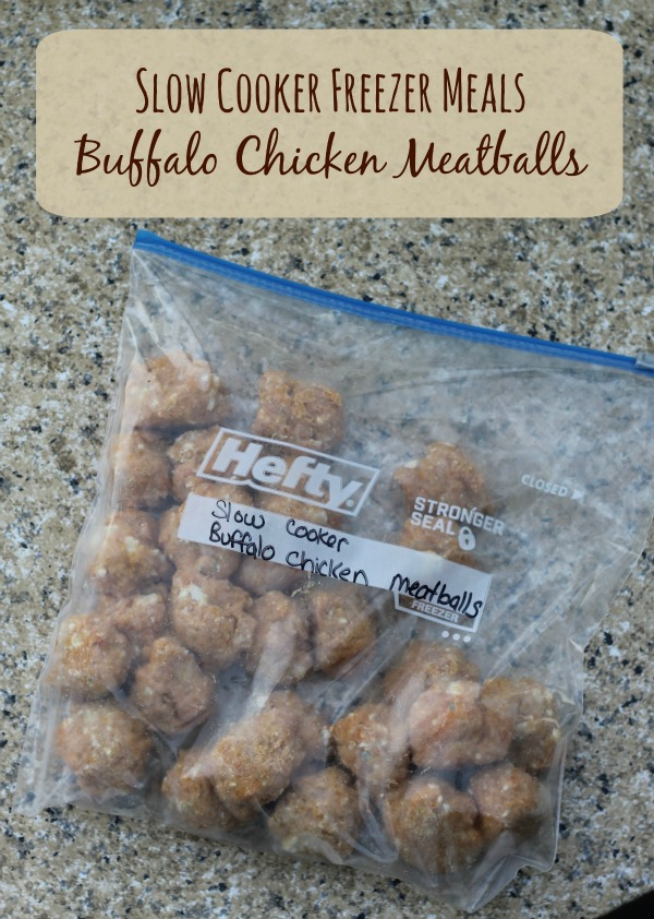 Buffalo Chicken Meatballs slow cooker freezer meals