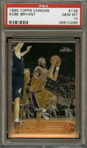 kobe bryant most valuable basketball cards 1990s