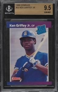 ken griffey jr rookie card donruss