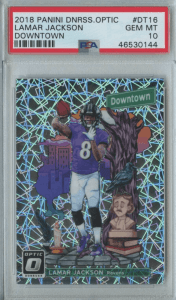 Lamar Jackson rookie card downtown
