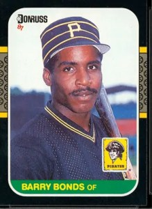 1987 Donruss Barry Bonds Rookie Card