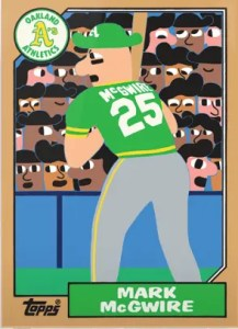 Topps Project 2020 Mark McGwire Rookie Card