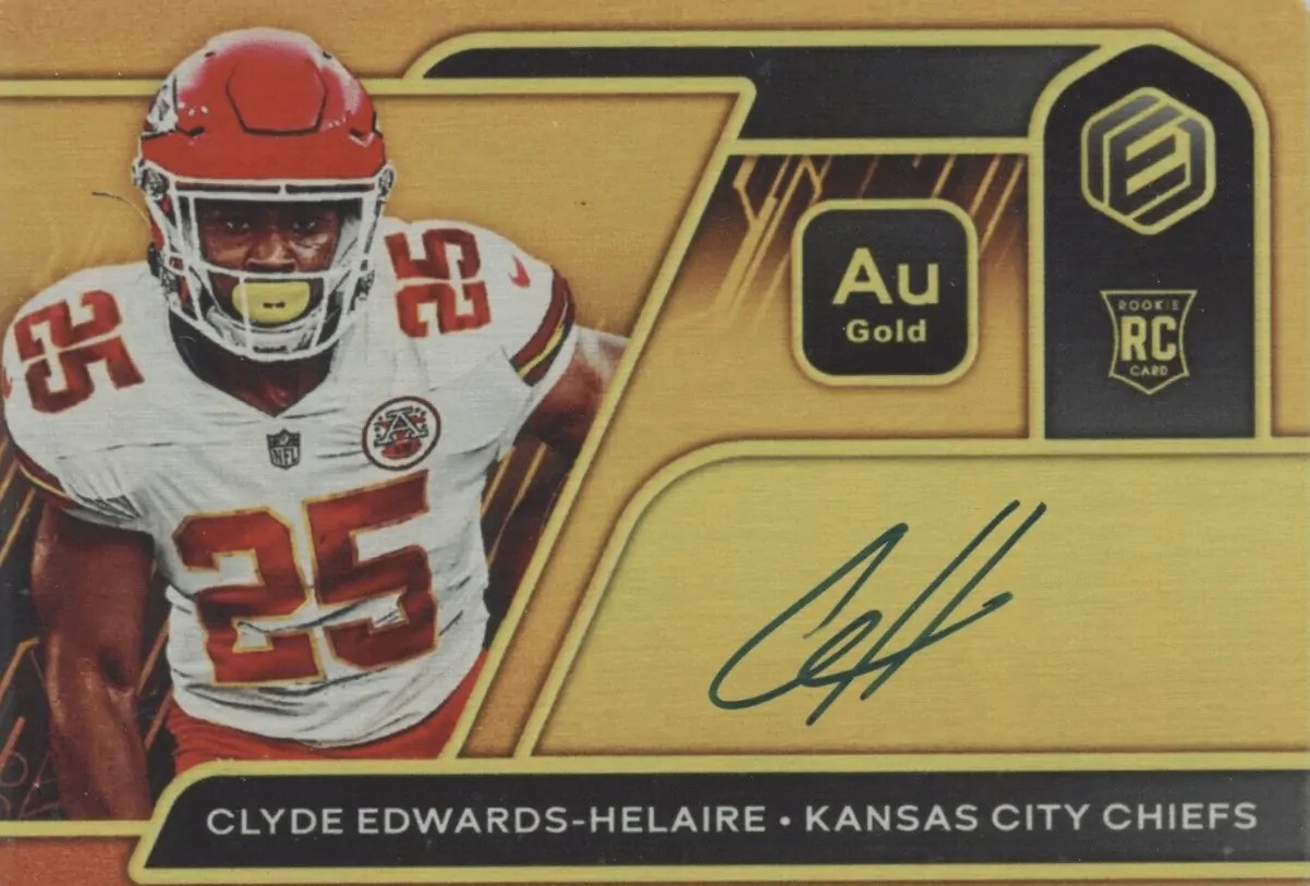 2020 Clyde Edwards-Helaire rookie card Panini Elements