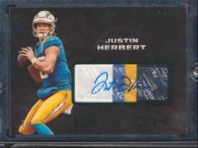Justin Herbert rookie card panini black