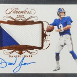 Daniel Jones rookie card Panini Flawless