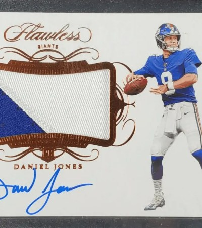 Daniel Jones rookie card Panini Flawless