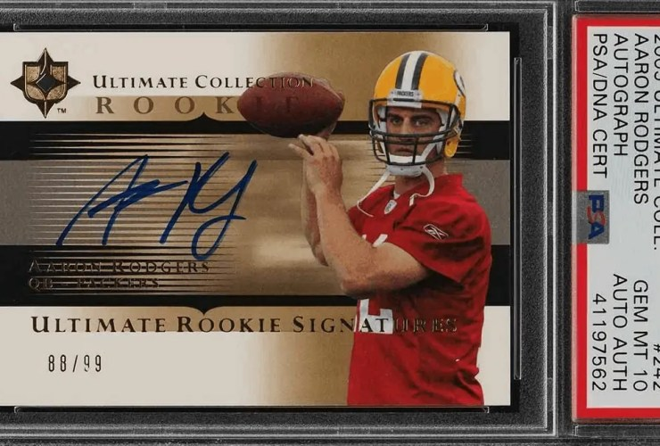most valuable aaron rodgers cards 2005 collection