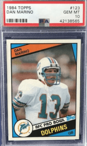 most valuable dan marino football cards of the 1980s