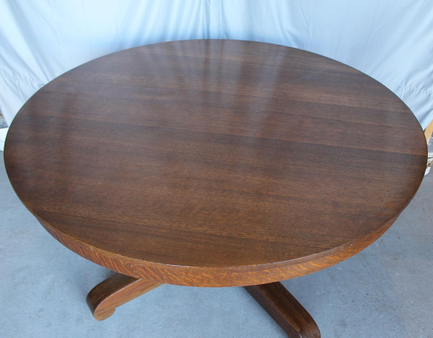 Antique Round Oak Mission Style