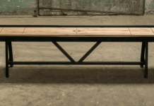 Handmade Custom Shuffleboard Tables