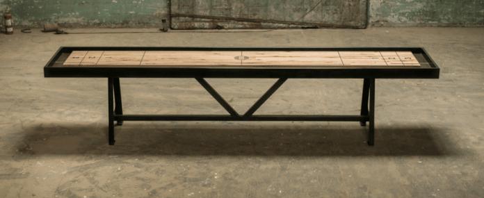 Handmade Shuffleboard Tables Beautiful Craftsmanship In Action - Portable shuffleboard table