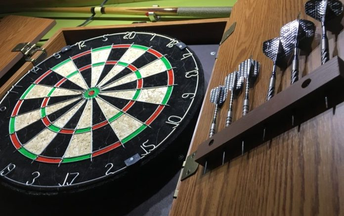 best dart board cabinet