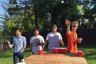 Beer Pong outside