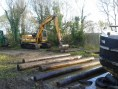JCB and Rollers in place, 69.M about to leave the lake.